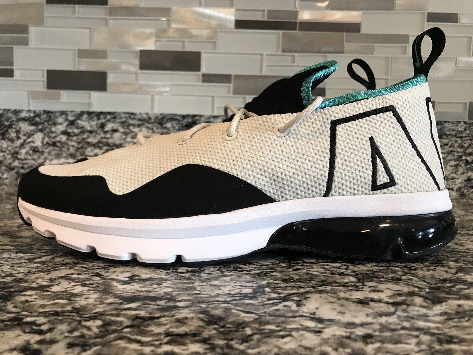 Nike Air Max Flair 50 Light Bone Sport Turquoise White Black Sz 10 AA3824 004