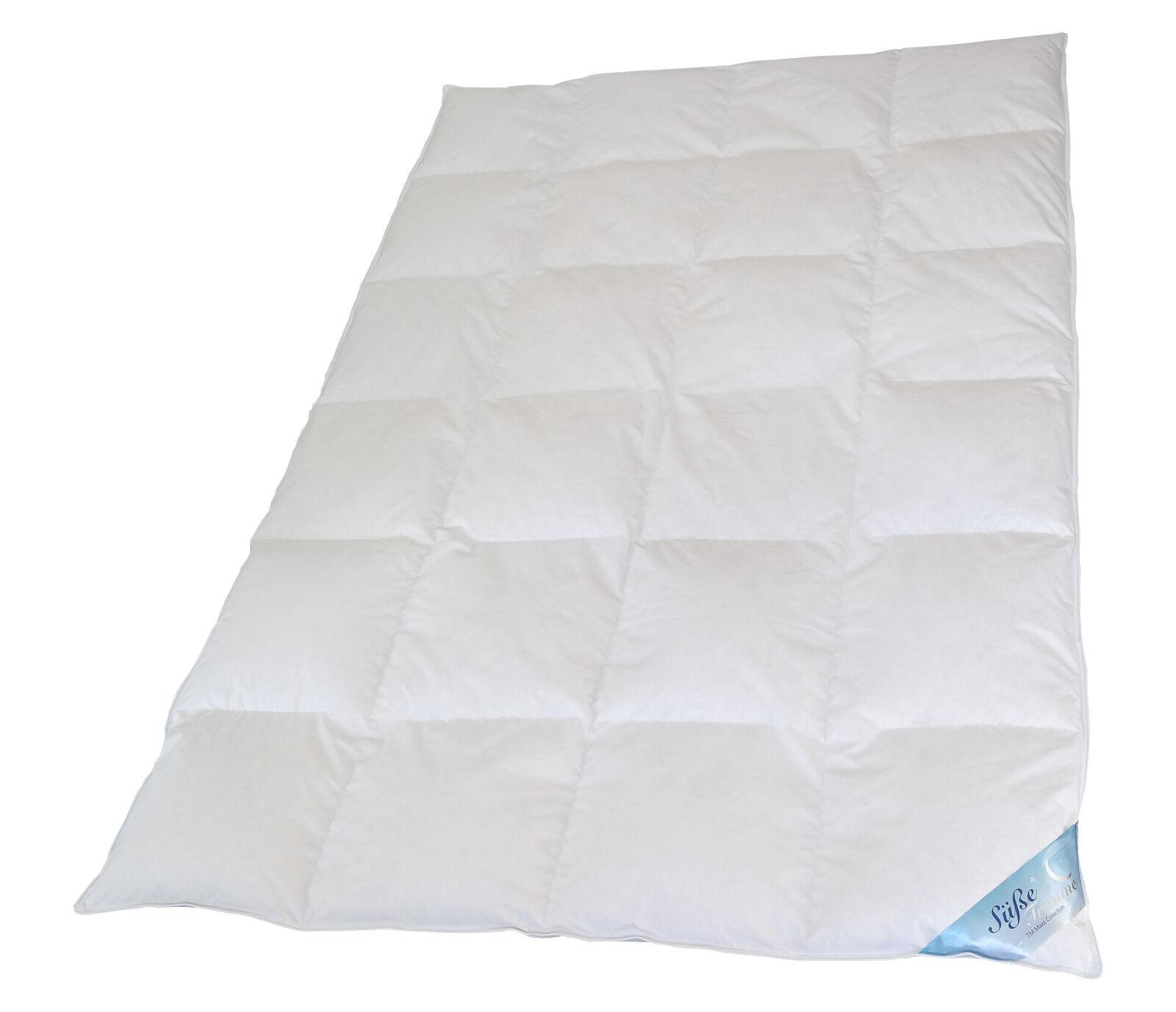 Ecru und Weiss 100/% Daunen Natürliche Decke 155x220 1500g Bettdecke Oberbett