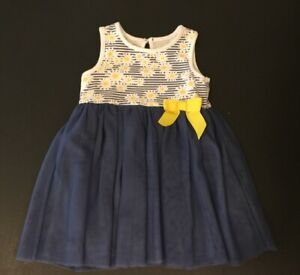 Koalakids Flora Baby Girls Dress Blue And Yellow Size 9 12 Months A Infant Ebay