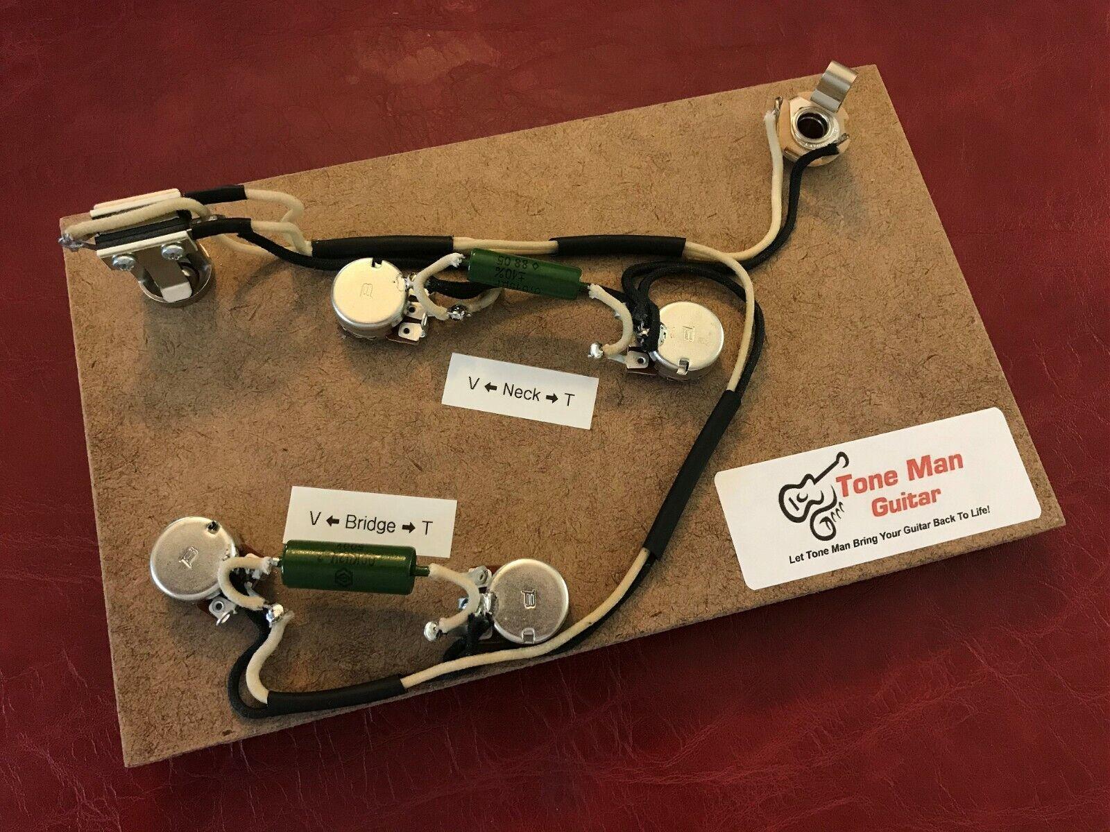 Pre Wirot Wiring Harness Kit Fits  Epihone Sheraton PIO Tone Cap Cloth Wire