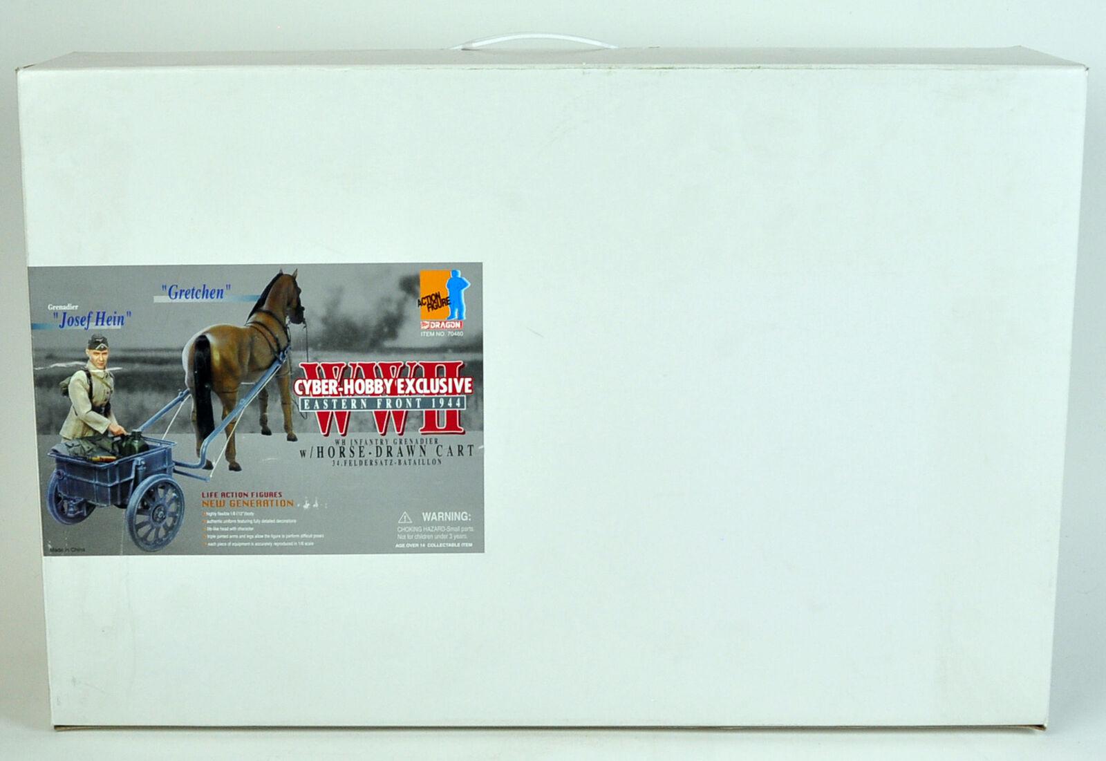 Cyber Hobby exclusivas de Dragon Segunda Guerra Mundial Alemania Granadero W caballo Dibujado Cochero 70480 1943