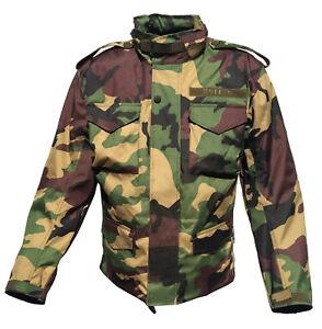 Textil-Motorradjacke-M65-Style-Flecktarn-Camouflage-Army-Feldjacke-Woodland