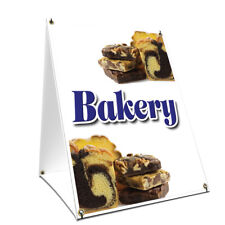 A Frame Sidewalk Sign Bakery With Graphics On Each Side