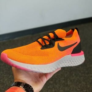 Nike-Epic-React-Flyknit-Copper-Flash-Orange-and-Black-Shoes-Size-14-Men-039-s-NEW