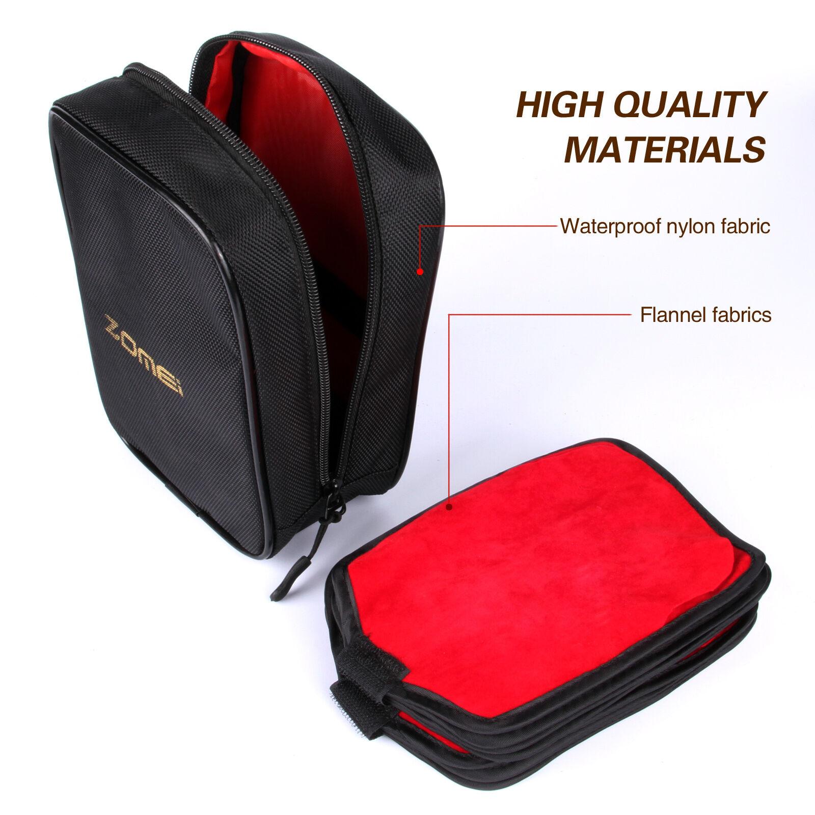 2 Slots 77mm Camera Filter Lens UV CPL Bag Case Pouch Holder Waterproof