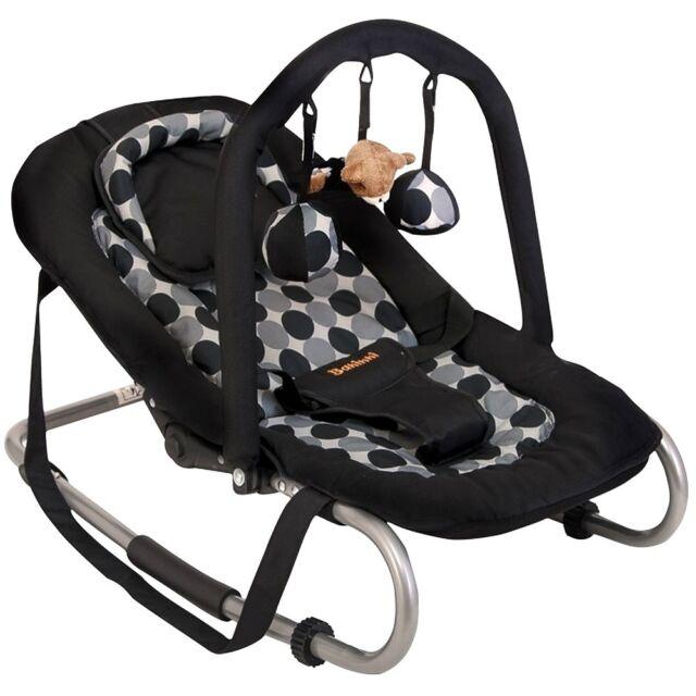 Baninni Babyschaukel Babywippe Relax BLACK CIRCLE schwarz verstellbar Spielbogen