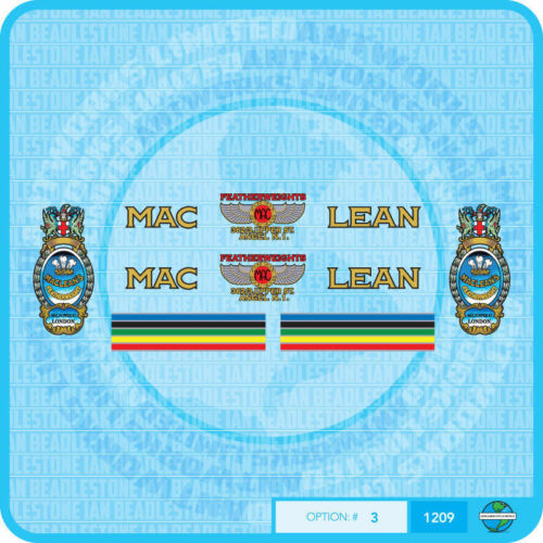 Maclean Bicycle Decals Transfers Stickers Set 3