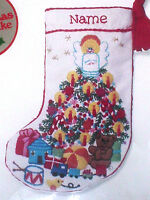 Christmas Sunset Crewel Embroidery Stitchery Stocking Kit,baby's Fantasy,7.5