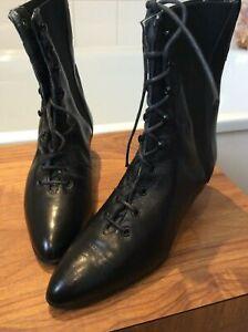 vintage Italian black fine leather