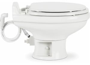 Dometic 320 Series Low Profile Toilet w//Hand Spray White