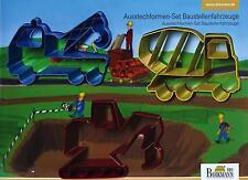 """Ausstecher/Ausstechform """"Baustelle / BAUSTELLENFAHRZEUGE FÜR HAUSBAU"""" Set 3-tlg."""