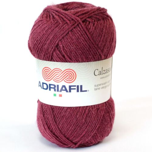 Burgundy 042 Adriafil Calzasocks Sock Yarn