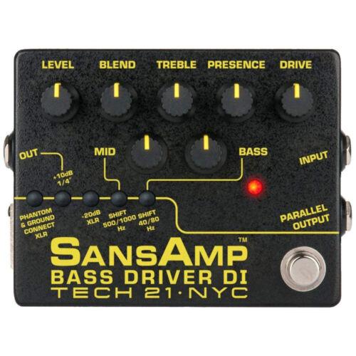 Tech 21 SansAmp Bass Driver DI V2 Preamp Guitar Pedal for Bass
