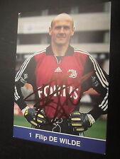16806 Filip De Wilde Anderlecht Belgien WM original signierte Autogrammkarte