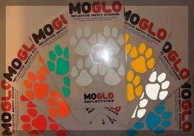 Expressive Reflective Dog Paw Print Stickers Hi-viz Hi-vis Cycling 7 Colours *