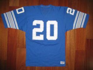 online retailer a57d8 4969a Details about 80s Authentic Detroit Lions Barry Sanders MEDALST Sand-Knit  jersey L PRO-Line