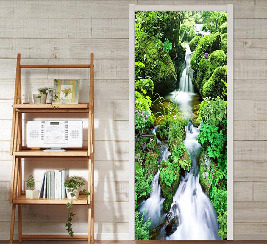 3D Stream 76 Tür Wandmalerei Wandaufkleber Aufkleber AJ WALLPAPER DE Kyra | Einfach zu spielen, freies Leben  | Hohe Qualität und Wirtschaftlichkeit  | Nutzen Sie Materialien voll aus