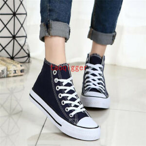 Women Men ALL Sports Ox High Top Casual Canvas Athletic outdoor Sneakers full sz