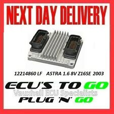 VAUXHALL/OPEL ECU ASTRA ECU 1.6 Plug N Play MOTORE CODICE z16se 12214860 LF 2003