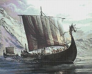 VIKING LONGBOAT # 4 - COUNTED CROSS STITCH CHART | eBay