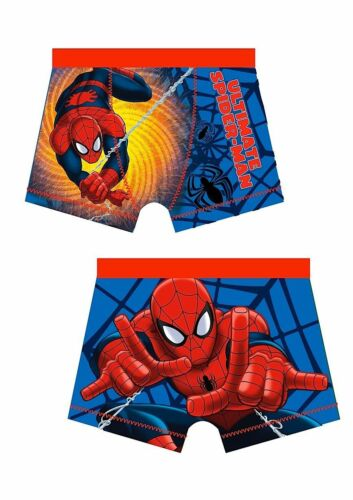 1 Pair Child/'s Boxer Shorts  Red Top Ultimate Spider-man Web