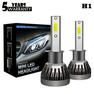 H1-LED-Voiture-Phare-Lampe-Feux-Headlight-Conversion-Ampoule-Kit-6000K-Blanc-COB