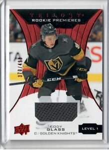 2019-20-Upper-Deck-trilogy-Cody-Glass-Rookie-Premieres-Jersey-499-Level-1
