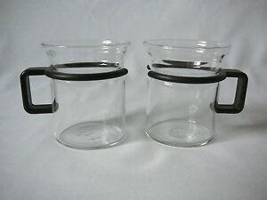 Teetassen Glas bodum 2 teegläser teetassen glas becher kunststoffgriff schwarz