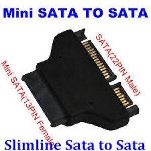 CONVERTITORE-MICRO-SATA-SERIAL-ATA-SLIMLINE-13-PIN-FEMMINA-22-POLI-MASCHIO