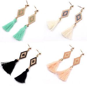Women-Fashion-Gold-Geometric-Tassel-Drop-Dangle-Ear-Stud-Earrings-Party-Jewelry