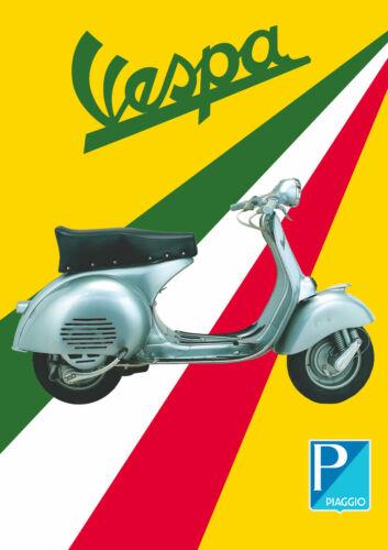 Piaggio Italy Italian Wall Decor Art Vespa Scooter Vintage Poster print