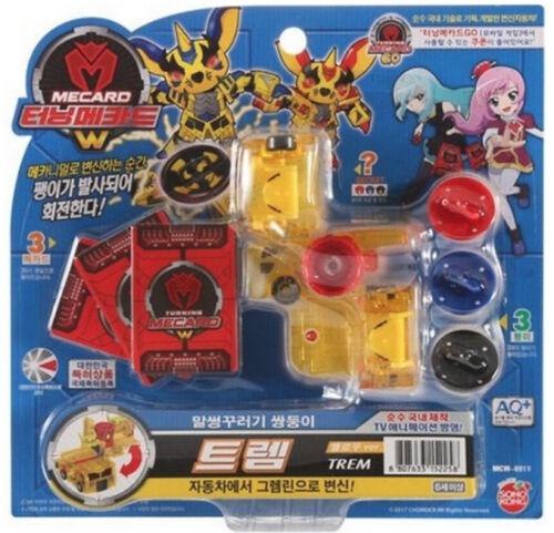 Turning Mecard W TREM Yellow Transforming Robot Kids Toy Sonokong Free Gifts