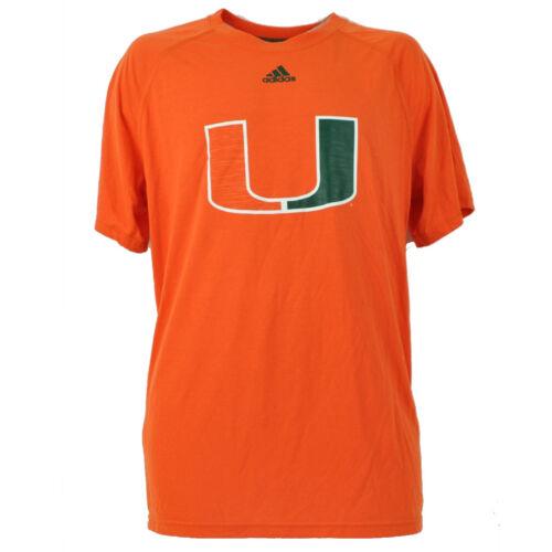 NCAA Miami Hurricanes Orange Mens Tshirt Tee Large Crew Neck Short Sleeve Canes