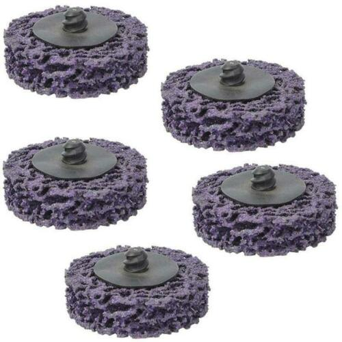 5pcs 2Inch Poly Strip Wheel Paint Rust Removal Clean Abrasive Angle Grinder Disc