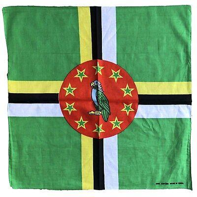 Dominica Flag Bandana Head Wrap Caribbean Pride Roseau National Nature Island