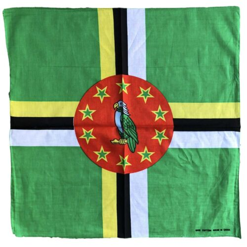 "Flag Bandana Caribbean Island Of Dominica Headwarp National Bandana 22""x22"""