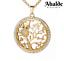 Brillante-Collar-Mujer-Buho-Arbol-De-La-Vida-Oro-Joya-Regalo-Dia-de-la-Madre miniatura 13