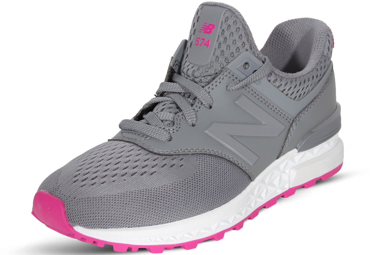 New Balance Women's Shoes Grey Pink 574 Sport Classic Running Sneakers WS574EMB