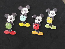 10 WOOD SEWING BUTTON. MICKEY MOUSE SHAPED. RANDOM MIXED CRAFTS/SCRAP BOOKING