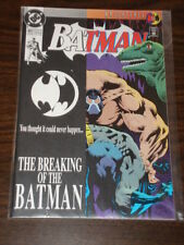 BATMAN #497 DC NM *SIGNED BY ADRIENNE ROY* BANE BREAKING OF THE BAT AUGUST 1993