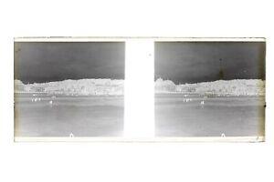 Francia Spiaggia Ville A Identificare Foto Amateur Stereo L12n14 Placca Da Lente
