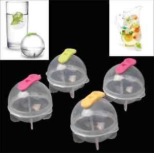 ICE boules Lot de 4 forme glaçons Cube glace Moule à rond Broyeur à ice-pods
