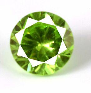 Pakistan Peridot Round Diamond Cut Gemstone Natural 22.95 Ct Certified A40632