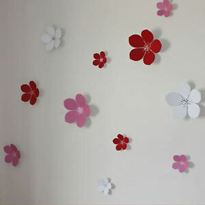 3d flower wall stickers wall decors wall art wall for Decoration murale papillon 3d