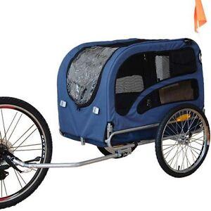 Original-Doggyhut-Large-Dog-Bike-Trailer-Pet-Bicycle-Carrier-In-BLUE-60302-D02