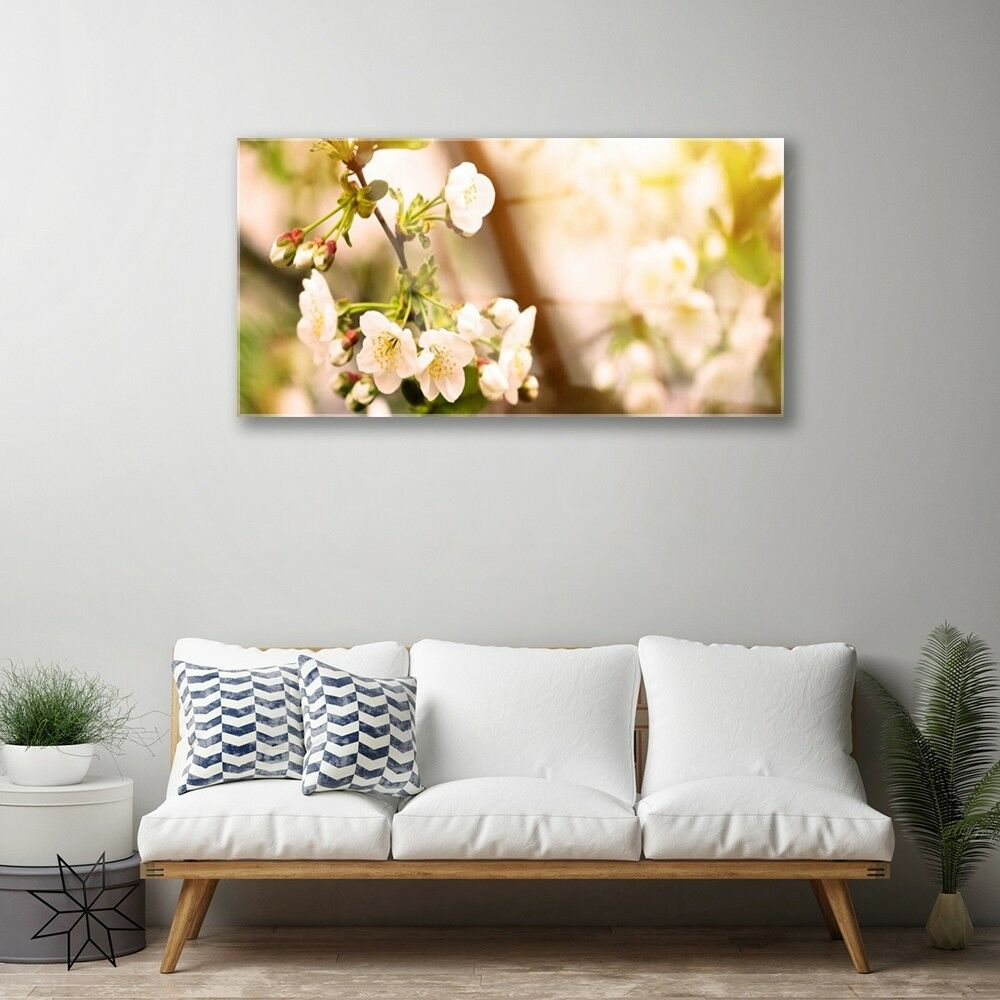 Glass Glass Glass print Wall art 100x50 Image Picture Flowers Floral 997a60