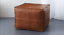 thumbnail 1 - Brown-Pouf-Square-leather-Pouf-Moroccan-pouf-footstool-Valentines-Gift