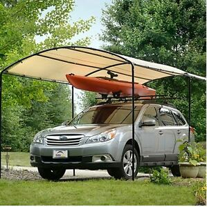 purchase cheap d5f5d d707b Details about Metal Carports Carport Canopy Kits Garage Steel Frame Car 9 x  16 Boat Tent Cover