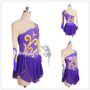Ice skating dress 2018 Competition Figure Skating   Baton Twirling Costume W122  clearance