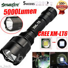 5000LM C8 CREE XM-L T6 LED 18650 Flashlight Tactical 5 Mode Torch Light Lamp LOT